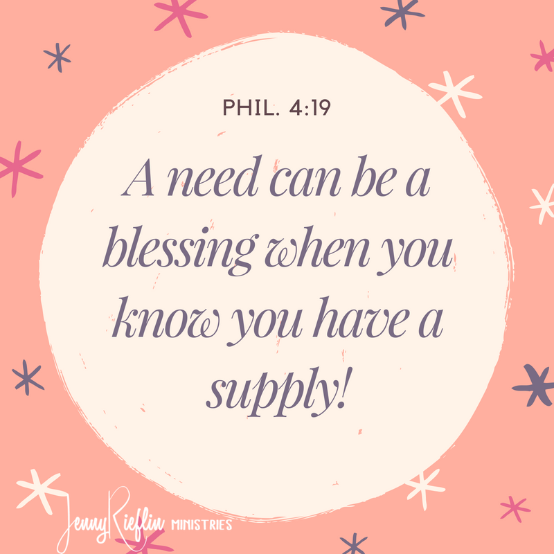 A need can be a blessing
