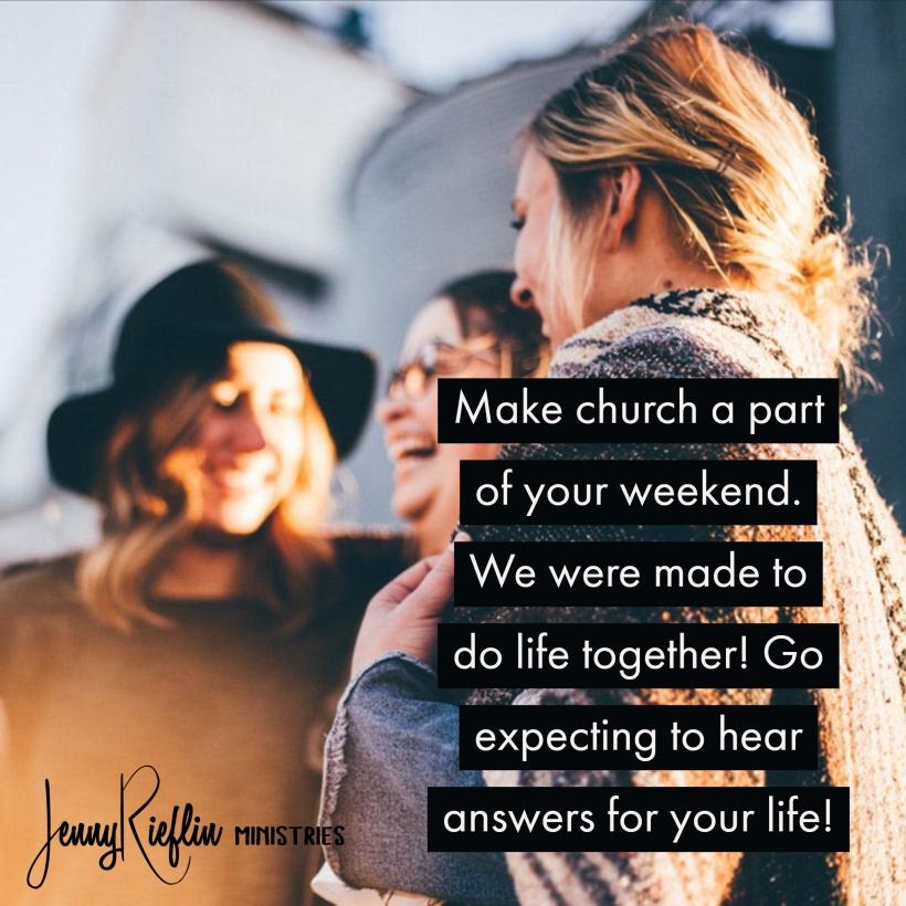 make plans for church