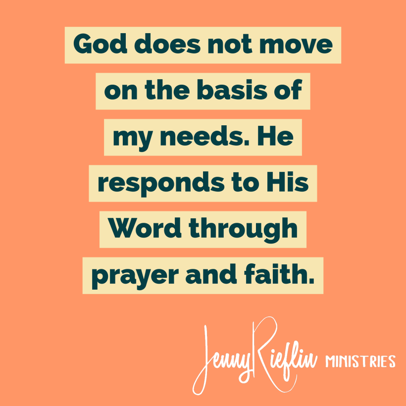 God does not respond to needs