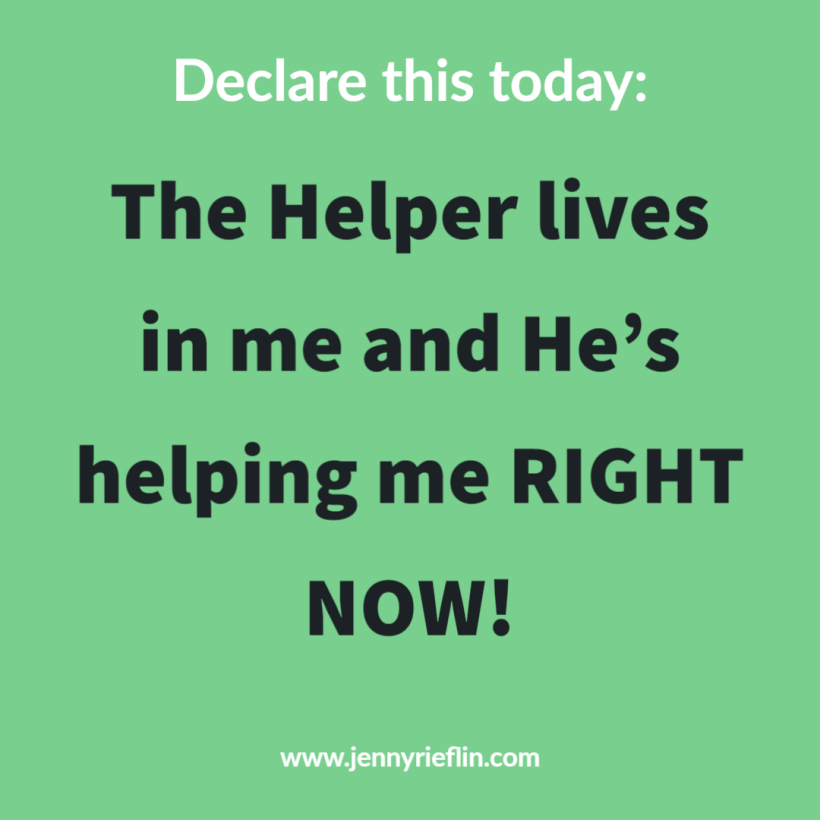 The Helper lives in me